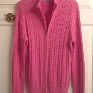 Izod Sweaters - Izod pink sweater that zips